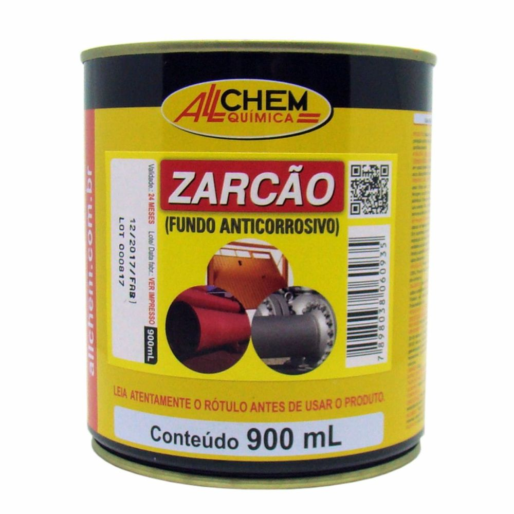 Fundo Anticorrosivo Zarcão 4x900 mL