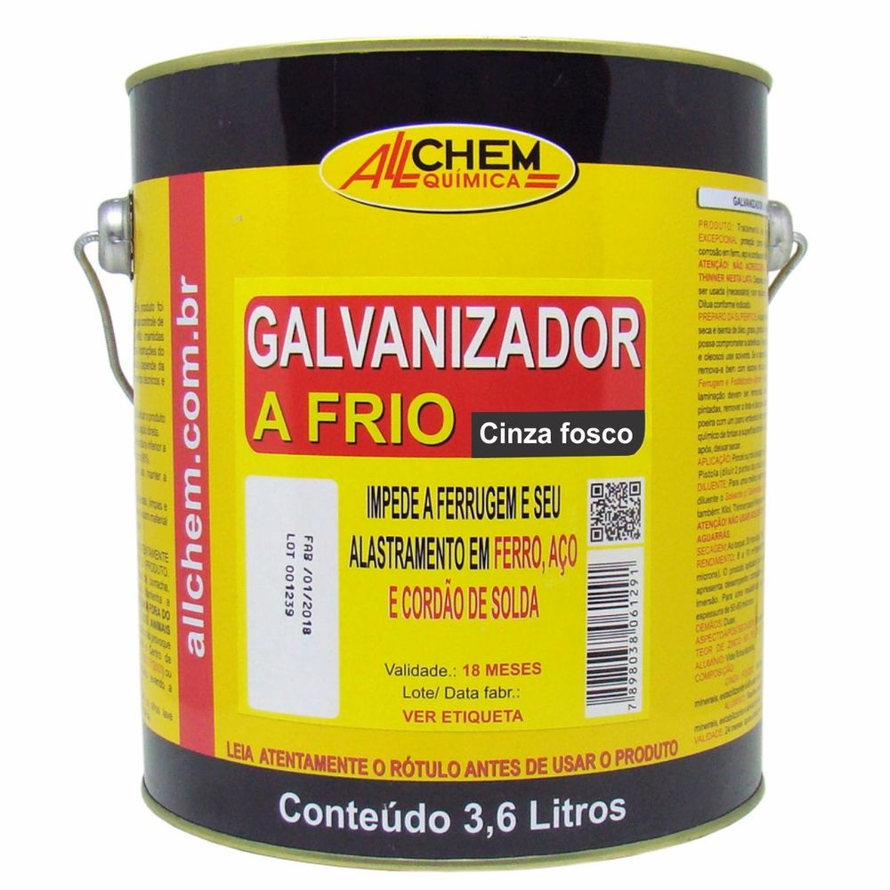 Galvanizador a Frio Cinza 2x3,6 Litros