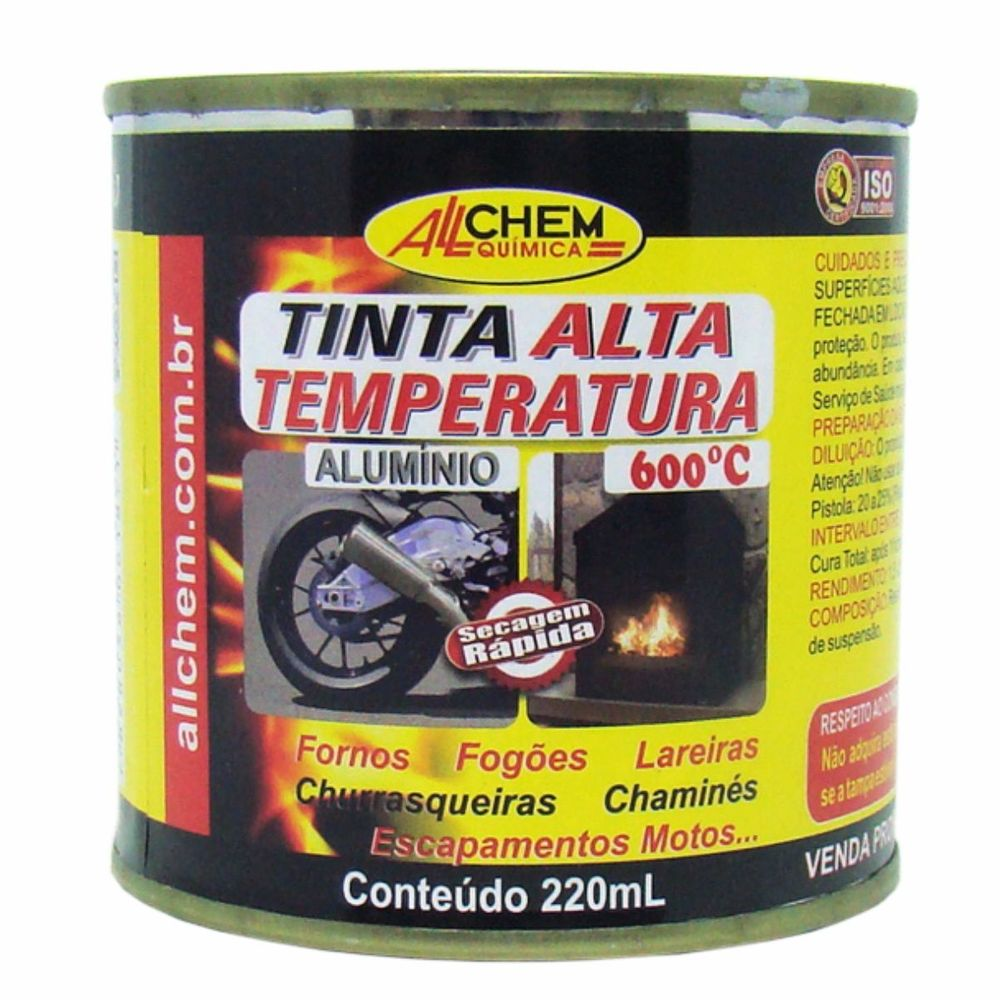 Tinta Alta Temperatura Alumínio 6x220 mL