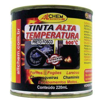 Tinta Alta Temperatura Preto 6x225 mL