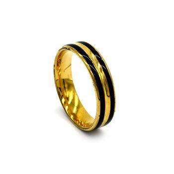 Anel de Aço Dourado
