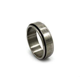 Anel de Aço Prata