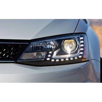 Farois Black LED Projetor com Xenon 5000k VW Jetta MK6 - 2011+