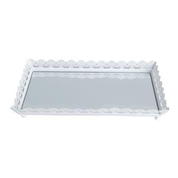 Bandeja Espelhada Cinzelada 30X19 cm