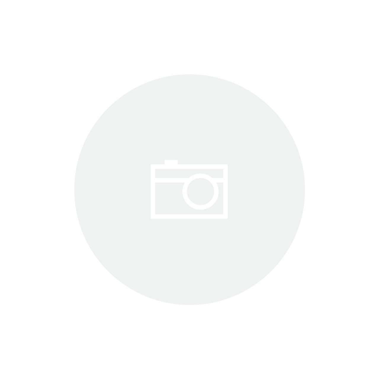 Cesta 34x24x12cm Poliester Branco com Bege