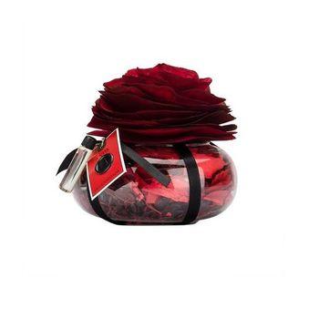 Porta Potpourri Intensidade Vidro com Rosas