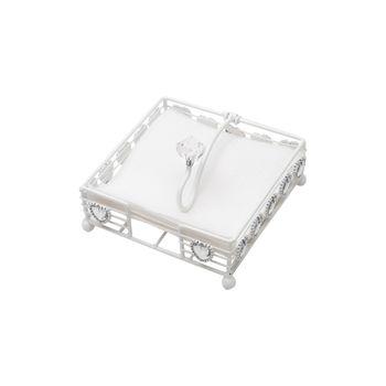 Porta Guardanapo de Ferro Cinzelado 12,5 x 12,5 x 6,5 cm