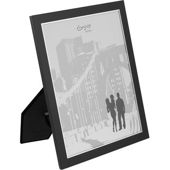 Porta Retrato 20x25cm Metal Preto gs Comercio Internacional