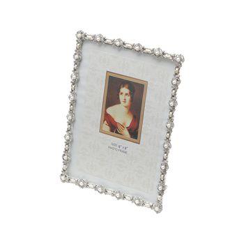 Porta Retrato de Latão c/ Strass 10 x 15 cm