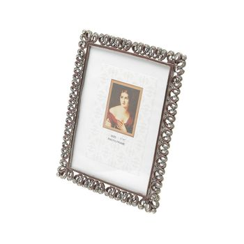 Porta Retrato de Latão c/ Strass 10 x 15 cm Lili