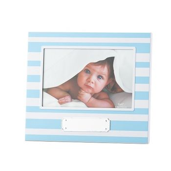 Porta Retrato Listras Azuis Baby Boy  10x15cm