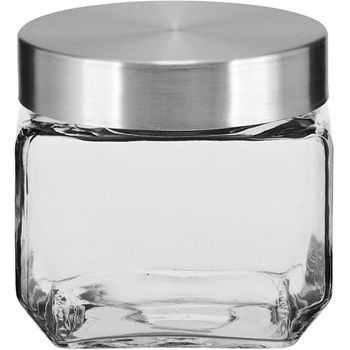 Pote Canister Pote 11cm Incolor Tampa Inox