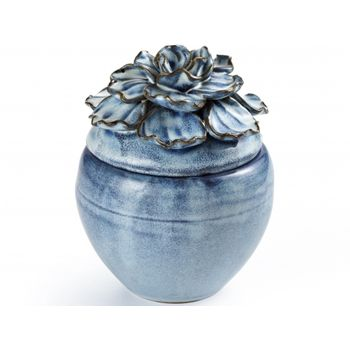 Pote Flor Azul 10,5X13,5cm