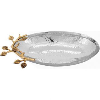Saladeira Oval 17 cm Inox Prata