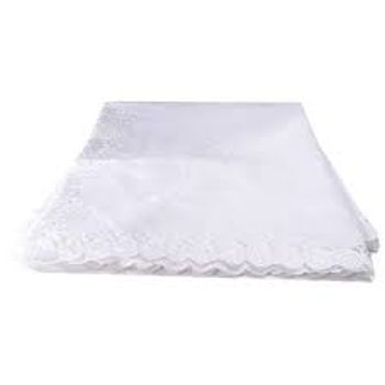 Toalha de Mesa 220cm c/ Renda Branca