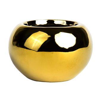 Vaso de Cerâmica Pequeno Dourado