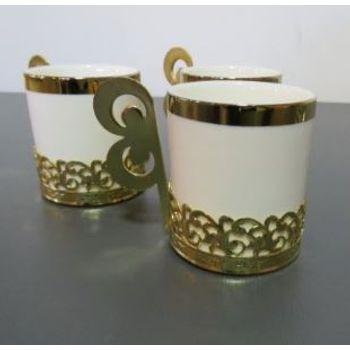 Xícara p/ Café Dourada