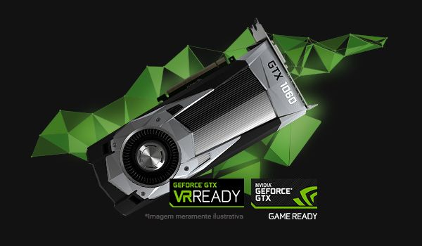 GEFORCE GTX 1060 6gb : GAME APERFEIÇOADO