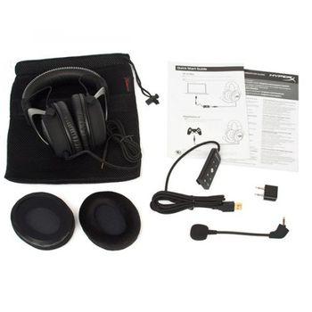 FONE HEADSET KINGSTON HYPER X CLOUD II GUN METAL, KHX-HSCP-GM
