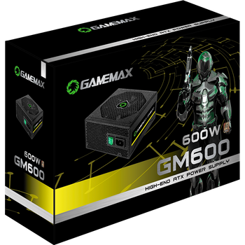 FONTE GAMER SEMI-MODULAR 600W 80 PLUS BRONZE GAMEMAX GM600