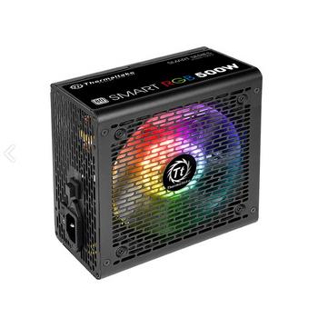 FONTE THERMALTAKE RGB 500W 80 PLUS WHITE PS-SPR-0500NHFAWB-1 PFC ATIVO