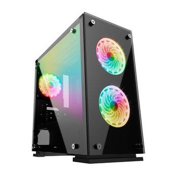 Gabinete Gamemax H605-TA Rainbow + 3 Fan RGB + Controle Remoto (2412)