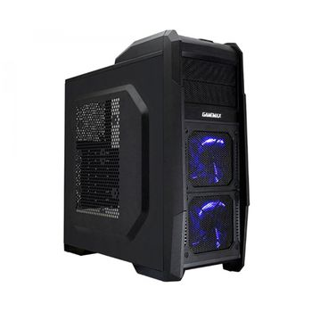 GABINETE GAMEMAX PRETO C/ LED AZUL, G506