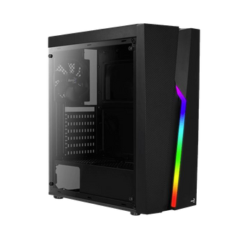 GABINETE GAMER AEROCOOL BOLT RGB, MID TOWER, LATERAL EM ACRÍLICO, BLACK