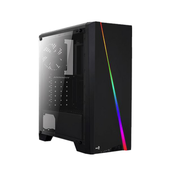 GABINETE GAMER AEROCOOL CYLON RGB, MID TOWER, LATERAL EM ACRÍLICO, BLACK