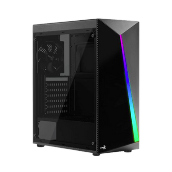 GABINETE GAMER AEROCOOL SHARD RGB, MID TOWER, BLACK