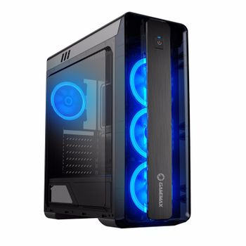 GABINETE GAMER GAMEMAX MOONLIGHT 9511 MID TOWER PRETO S/FONTE C/LED