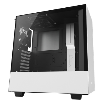 GABINETE GAMER NZXT H500, MID TOWER, VIDRO TEMPERADO, WHITE, CA-H500B-W1