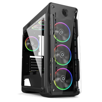 Gabinete Optical Rainbow Gamemax - 4 FAN Rainbow 15 LED + Controle Remoto - Lateral FULL Window * (2363)