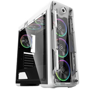 Gabinete Optical Rainbow Gamemax White - 4 FAN Rainbow 15 LED + Controle Remoto - Lateral FULL Window *