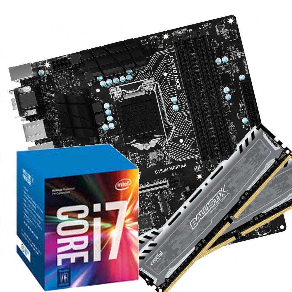 KIT UPGRADE IV - I7 7700 + B150 + 2X4GB DDR4