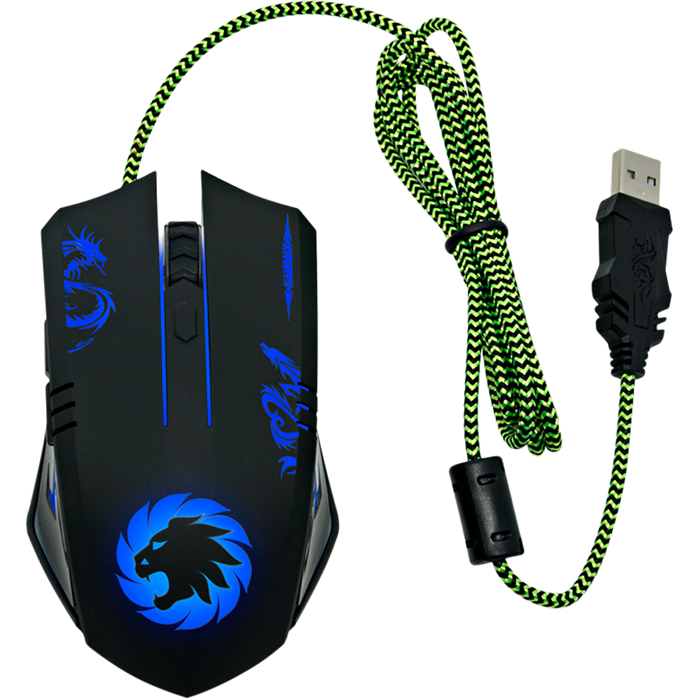 MOUSE GAMER MG386 OPTICO 3200DPI BASE DE METAL