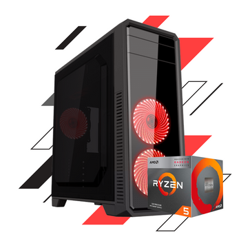 PC GAMER ECO LEVEL ONE - RYZEN 3400G / 8GB DDR4 / ECO RED