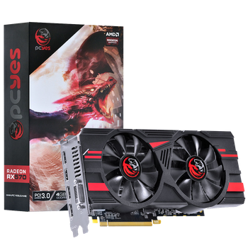 PLACA DE VIDEO AMD RX 570 4GB GDDR5 256 BITS ATX - PJ570RX256GD5