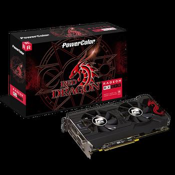 PLACA DE VÍDEO AMD RX 570 4GB RED DRAGON POWER COLOR AXRX 570 4GBD5-3DHDV2/OC