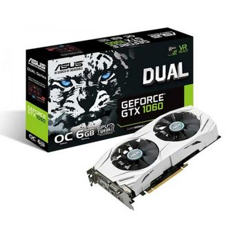 PLACA DE VIDEO ASUS GTX 1060 DUAL OC 6GB, DUAL-GTX1060-O6G