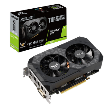 PLACA DE VÍDEO ASUS TUF NVIDIA GEFORCE GTX 1660 6GB GDDR5 TUF-GTX1660-O6G-GAMING