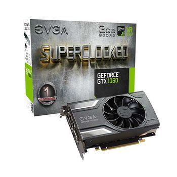 PLACA DE VÍDEO EVGA GEFORCE GTX 1060 SC GAMING ACX 2.0 3GB GDDR5 192BIT, 03G-P4-6162-KR