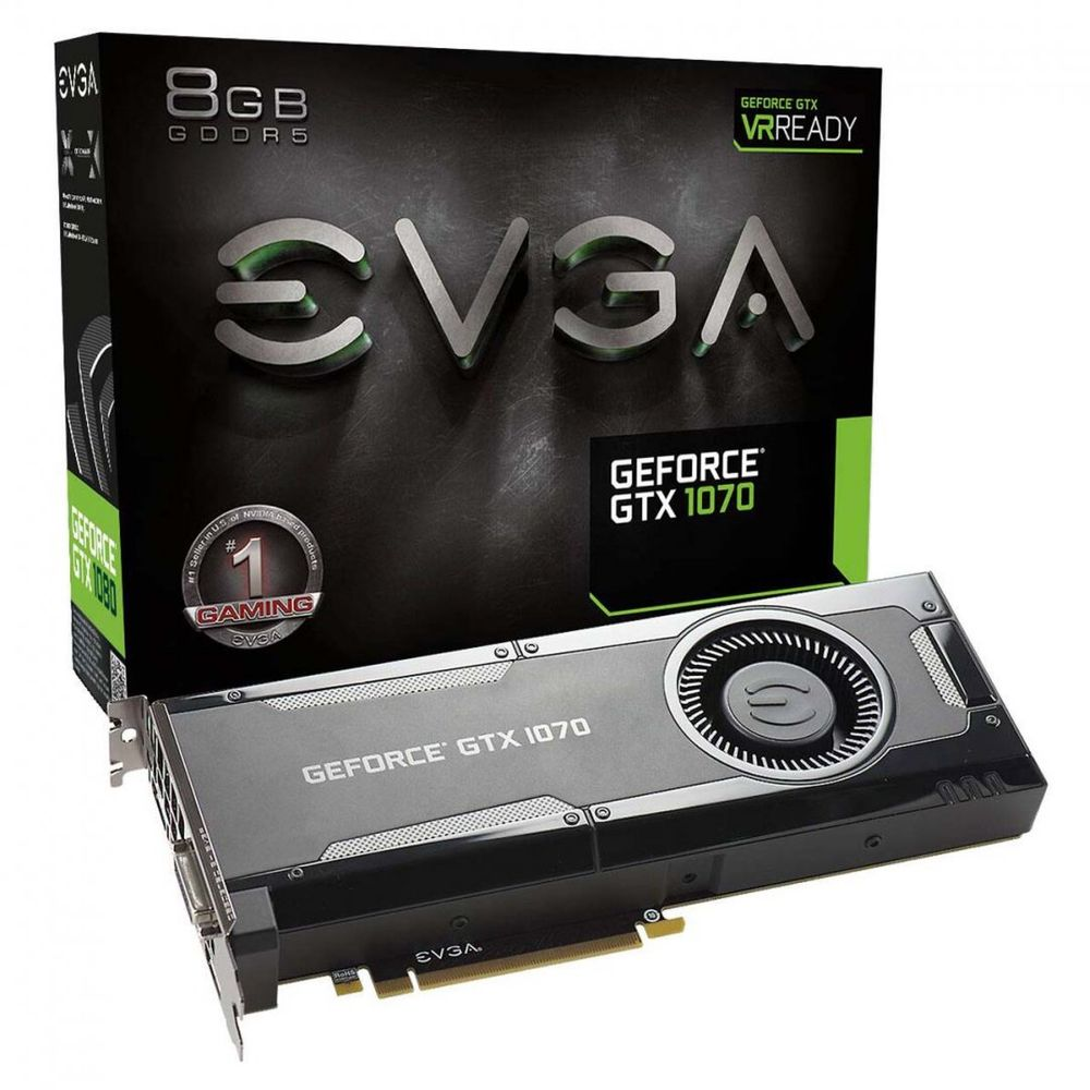 PLACA DE VÍDEO EVGA GEFORCE GTX 1070 GAMING 8GB GDDR5 256BIT, 08G-P4-5170-KR
