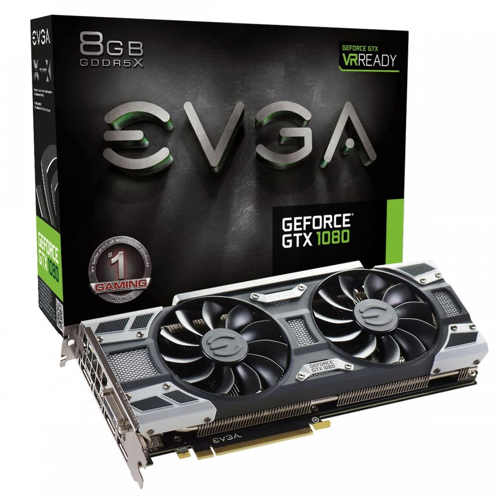 PLACA DE VÍDEO EVGA GEFORCE GTX 1080 8GB GDDR5X 256BIT - 08G-P4-6181-KR