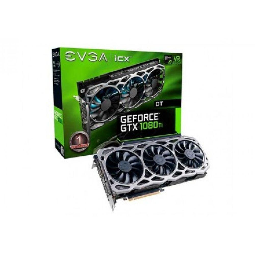 PLACA DE VIDEO EVGA GEFORCE GTX 1080 TI FTW3 DT ICX 11GB GDDR5X 352BIT , 11G-P4-6694-KR