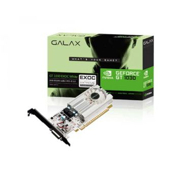PLACA DE VIDEO GALAX GEFORCE GT 1030 EXOC WHITE 2GB GDDR5 64BIT, 30NPH4HVQ5EW