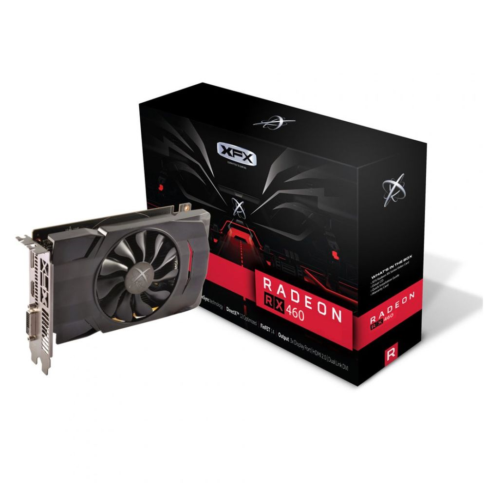 PLACA DE VÍDEO RX 460 4GB DDR5 XFX - RX-460P4SFG5