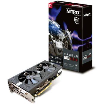 Placa de Video VGA AMD Sapphire RADEON RX 580 NITRO+ 8GB GDDR5 PCI-E Dual HDMI / DVI-D / Dual DP w/backplate - 11265-01-20G