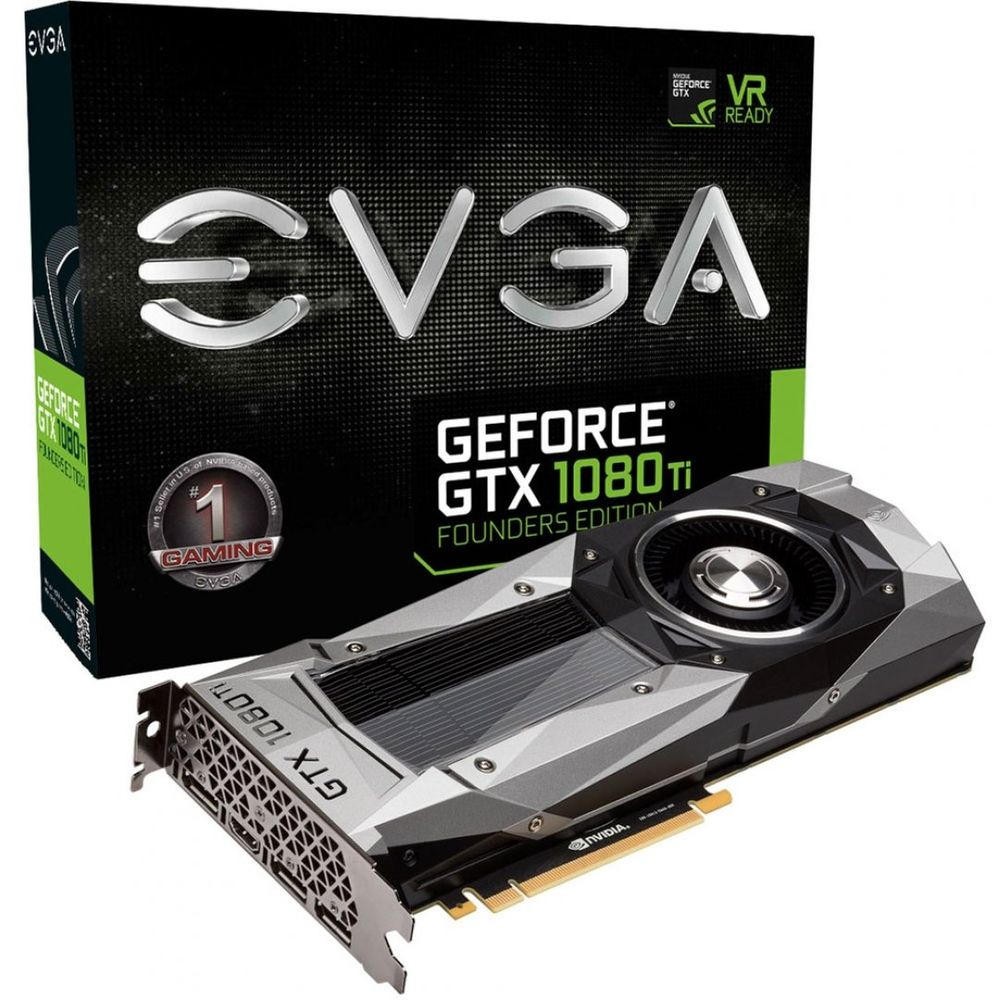 Placa de Vídeo VGA NVIDIA EVGA GEFORCE GTX 1080 TI Founders Edition 11GB GDDR5X 11G-P4-6390-KR