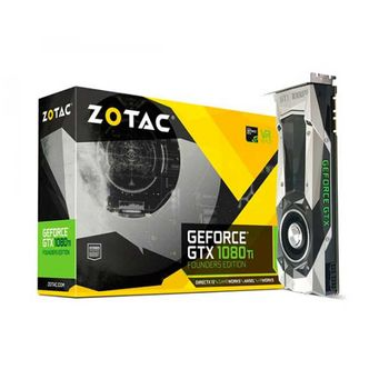 PLACA DE VÍDEO ZOTAC GEFORCE GTX 1080 TI FOUNDERS EDITION 11GB GDDR5X 352BIT, ZT-P10810A-10P